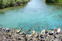 Canoes at Blue Heart
