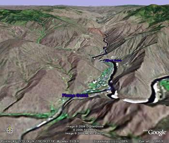 Snake River Elevation Map